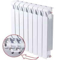 Биметаллический радиатор RIFAR Monolit Ventil 500 4 сек.(нижнее подключение)