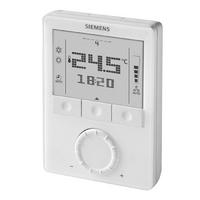 Накладной цифровой комнатный термостат Siemens RDG110 c 7-дневным расписанием и управлением с пульта