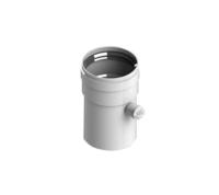 STOUT Элемент дымохода DN80 труба 125 мм п/м с ревизионным патрубком (Арт. SCA-0080-010125)