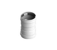 STOUT Элемент дымохода соединительный адаптер внутренний для труб DN80 п/п (Арт. SCA-0080-010135)