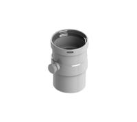 STOUT Элемент дымохода горизонтальный DN80 п/м с патрубком для отвода конденсата (Арт. SCA-0080-020135)