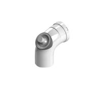 STOUT Элемент дымохода отвод 90 DN80 с инспекционным патрубком (Арт. SCA-0080-010090)