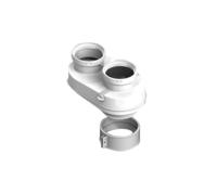 STOUT Элемент дымохода DN80/80 адаптер для подкл. разд. труб (совместимый Baxi ) PP-Ryton (Арт. SCA-8080-210002)