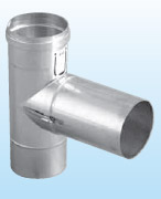 ЕКА Патрубок к газоходу (тройник) 90° для низких температур