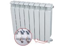 Алюминиевый радиатор RIFAR Alum 350 Ventil  4 сек.(нижнее подключение)